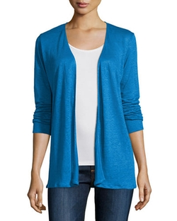 Majestic Paris for Neiman Marcus  - Linen Draped Open Cardigan