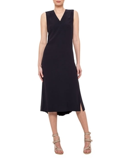 Akris Punto  - Sleeveless V-Neck Midi Dress