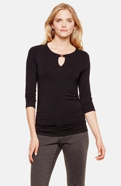 Vince Camuto - Three-Quarter Sleeve Keyhole Top