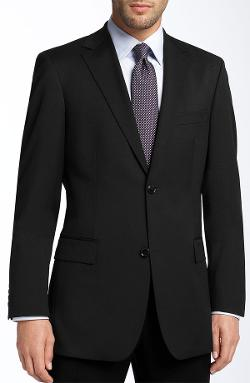 Hugo Boss - Pasolini Black Virgin Wool Sportcoat