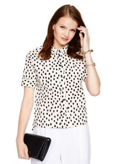 Kate Spade - Leopard Dot Short Sleeve Shirt
