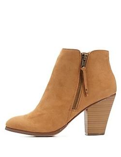 Charlotte Russe - Side-Zip Chunky Heel Booties