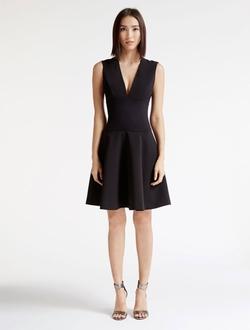 Halston Heritage - Bonded Crepe Combo Dress