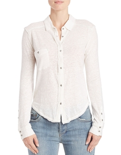 Free People - Caroline Button-Down Shirt