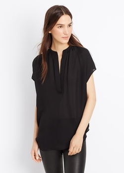 Vince - Cap Sleeve Silk Popover Blouse