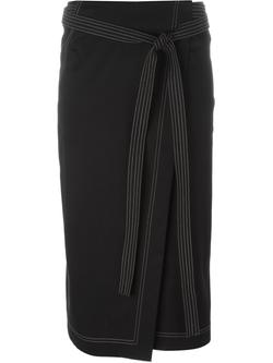Jil Sander   - Belted Wrap Midi Skirt