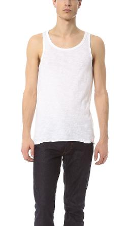 ATM Anthony Thomas Melillo  - Destroyed Wash Slub Jersey Tank Top