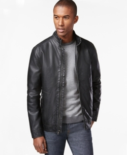 INC International Concepts - Faux-Leather Moto Jacket