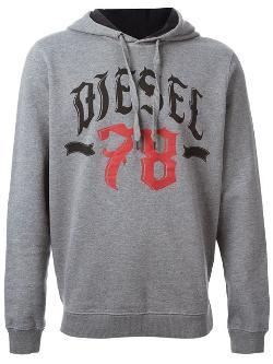 Diesel  - Logo Print Hoodie