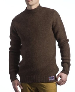 Hawick Knitwear  - British Wool High Neck Pullover Sweater