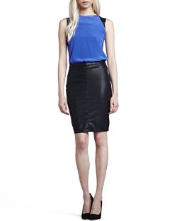 Blank - Vegan Leather Pencil Skirt