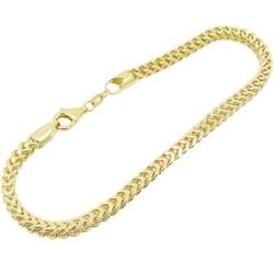 10K-Gold-Chain-Bracelets - Franco Bracelet