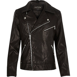 River Island - Leather-Look Biker Jacket