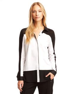 Kenneth Cole New York - Acadia Knit Detail Blouse