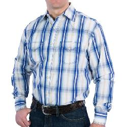 Rancho Estancia  - Ombre Plaid Western Shirt - Long Sleeve