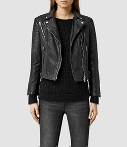 All Saints - Papin Leather Biker Jacket