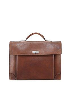 Brunello Cucinelli - Leather Portfolio Briefcase, Cognac