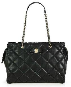 Salvatore Ferragamo  - Ginette Vara Quilted Leather Shoulder Bag