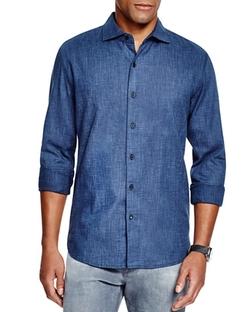 3x1  - Textured Regular Fit Button Down Shirt