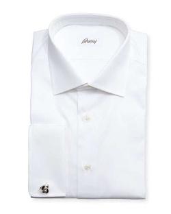 Brioni - Diamond-Weave French-Cuff Shirt