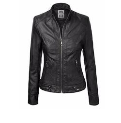 MBJ  - Panelled Faux Leather Moto Jacket