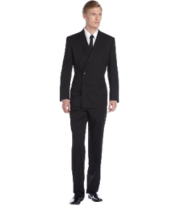 Calvin Klein  - Black Wool Double Breasted Suit