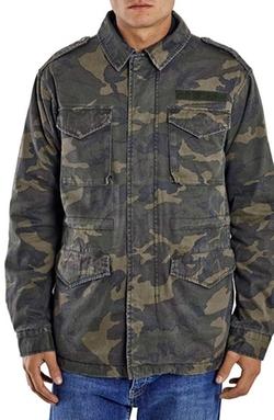 Topman - Camo Print M-65 Field Jacket