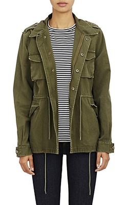 Barneys New York  - Canvas Army Jacket