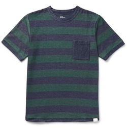 White Mountaineering - Striped Cotton-Blend Piqué T-Shirt