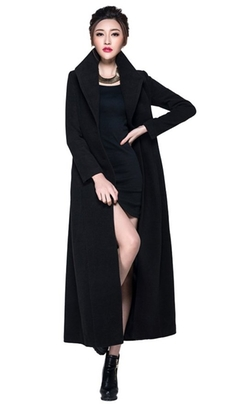 Chickle - Belt Wool Long Coat
