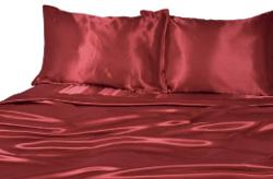 Elite Home - Products Collection Silky Luxurious Woven Satin 3-Piece Sheet