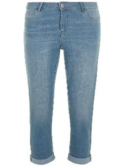 Dorothy Perkins - Tall Light Wash Cropped Roll Up Jeans