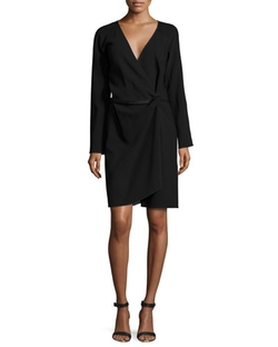 Kaufman Franco - Bi-Color Wrap Dress