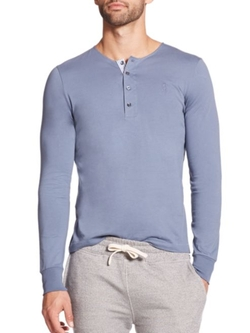 Faconnable  - Cotton Henley Shirt
