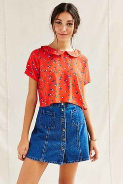 Urban Outfitters - Urban Renewal Remade Peter Pan Collar Shirt