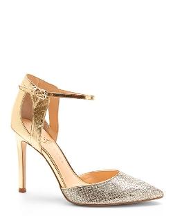 Ivanka Trump  - Gold Egees Glitter Pumps