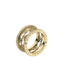 Michael Kors - Monogram-Cutout Pave Ring