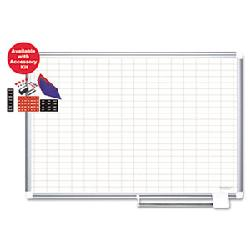 Lean Supermarket - Whiteboard - Mastervision Planning Kit with Magnetic Accessories and grid lines- Multiple Sizes Available