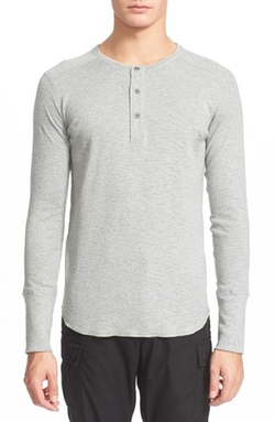 Wings + Horns - Base Long Sleeve Henley Shirt