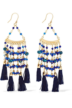 Rosantica  - Kilimanjaro Tasseled Gold Tone Beaded Earrings