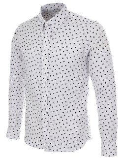 Flatseven - Mens Star Pattern Printed Shirt