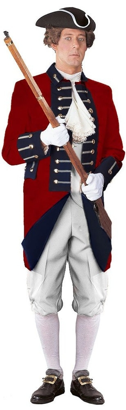 International Costumes, Inc. - Unisex Adult British Red Coat Revolutionary War Uniform