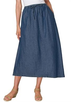 Woman Within - Flared denim skirt