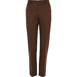 River Island - Brown Skinny Suit Pants