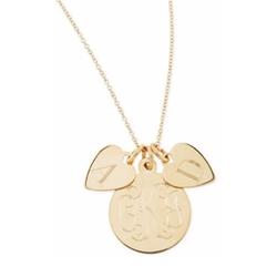 Sarah Chloe - Sonya Layered Letter & Monogram Necklace