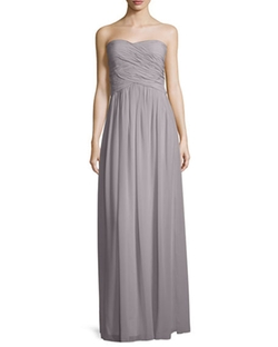 Donna Morgan - Strapless Ruched Chiffon Gown