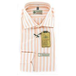 Luigi Borrelli  - Orange Striped Cotton Shirt