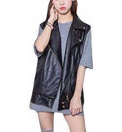 Oberora  - Leather Sleeveless Jacket