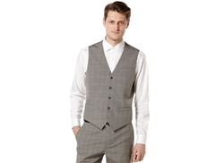 Perry Ellis  - Travel Luxe Plaid Suit Vest