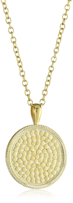 "Anna Beck Designs - ""Gili"" 18k Gold-Plated Medallion Pendant Necklace"